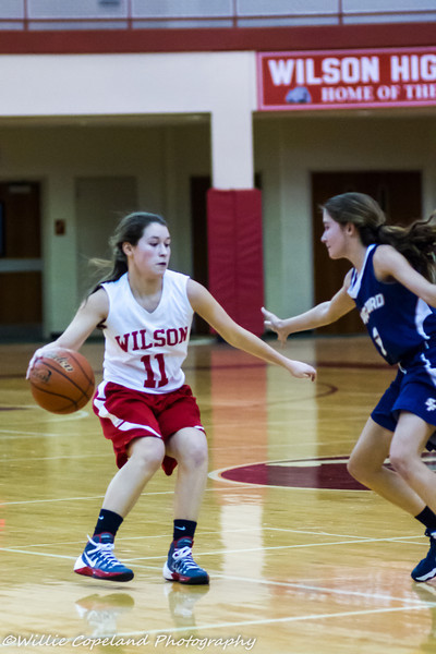 Wilson's Girls Freshman Basketball 2-4-14