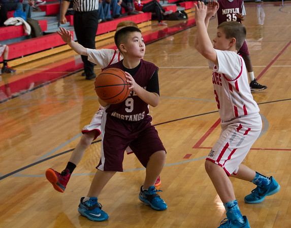 Wilson 5th grade Basketball vs Mifflin 2-15-15
